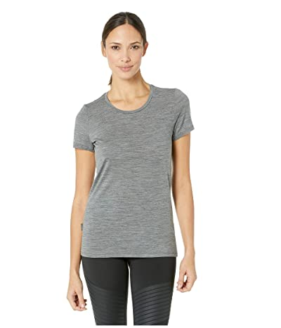 Icebreaker Tech Lite Merino Short Sleeve Low Crewe (Gritstone Heather) Women