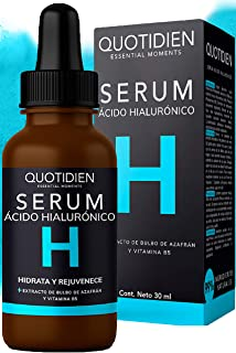 Serum Ácido Hialurónico Facial+Vitamina B5+Extracto de Bulbo de Azafrán-99% Ingredientes Naturales-Hidratación Intensa-Rea...