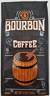 Gourmet Premium Bourbon Whiskey Infused Flavored Ground Coffee