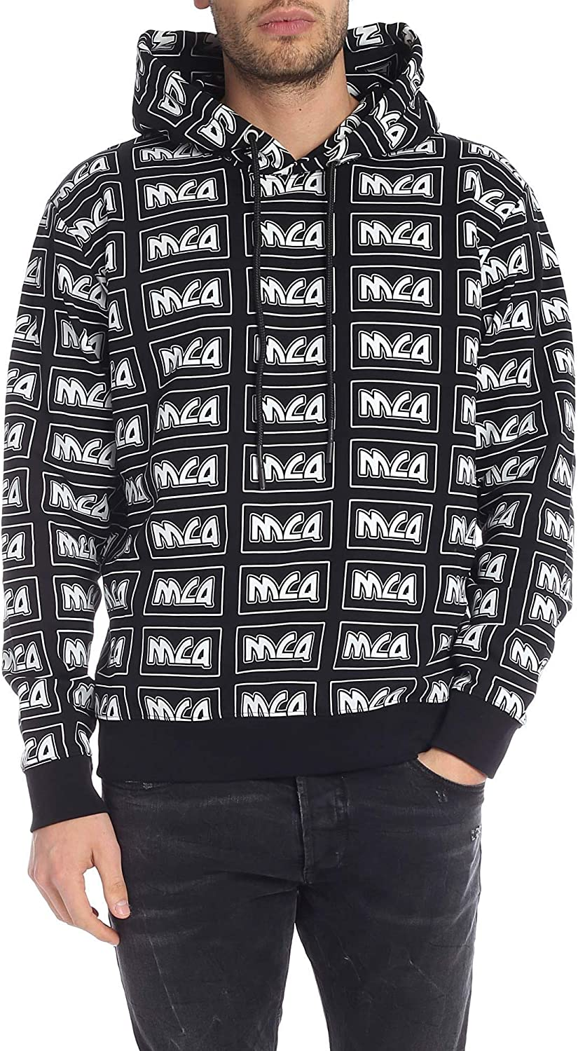 MCQ by Alexander McQueen Men's 494034RMT311000 Black Cotton Sweatshirt