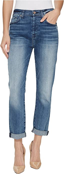 7 For All Mankind - High Waist Josefina w/ Light Distress in Wall Street Heritage 3