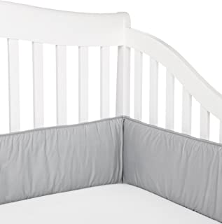 American Baby Company Cotton Percale Crib Bumper, Gray, for Boys and Girls