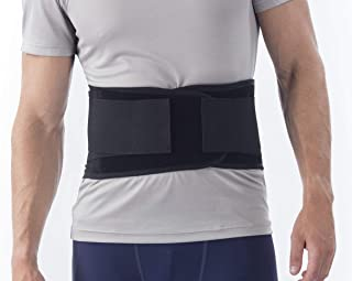 NYOrtho Back Brace Lumbar Support Belt - for Men and Women   Instantly Relieve Lower Back Pain   Maximum Posture and Spine Support, Adjustable, Breathable with Removable Suspenders   Medium 30-34 in.