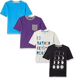 508647637 Amazon Brand - Spotted Zebra Boys  Toddler   Kid 4-Pack Short-Sleeve