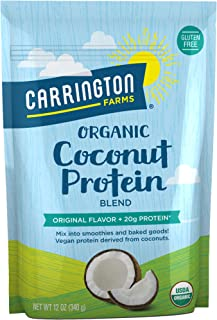 Carrington Farms Organic Coconut Protein, Original, 12 Ounce, Packaging May Vary