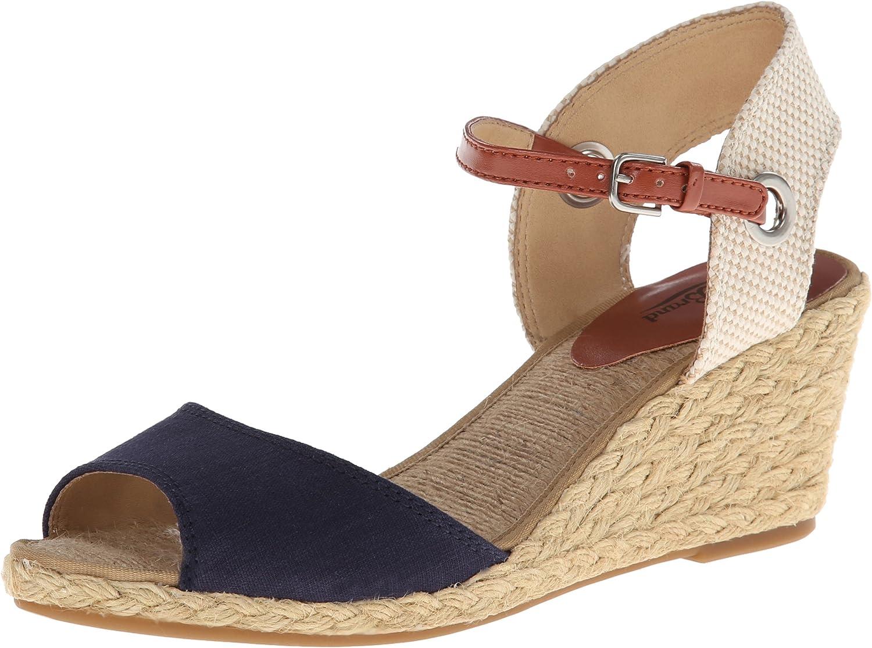 LucKy Women's Kyndra Wedge Sandal,Mgoldccan bluee,10 M US