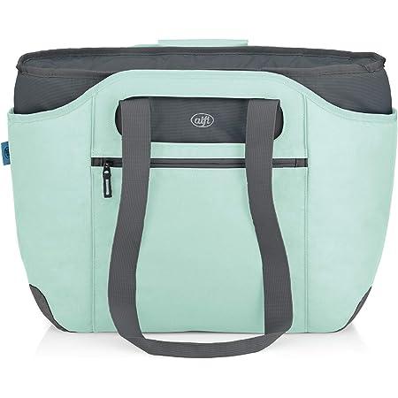 alfi Thermo-Kühltasche, isoBag mittel 23 Liter - Isolierte Einkaufstasche aus Polyester, mint grün 54 x 16,5 x 37 cm - 2in1, Isoliertasche inkl. extra Tragetasche - 0007.292.812