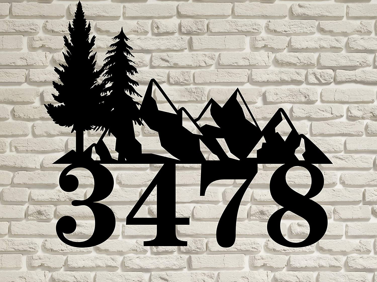 Mountain Sales of SALE Max 53% OFF items from new works Landscape - Personalized Steel Address Solid Decorative