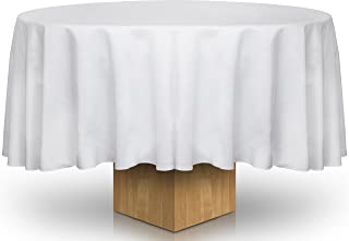 Best white round table covers Reviews