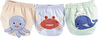Baby Aspen Beach Bums 3 Piece Bloomers, Newborn Bathing Suit, Diaper Cover, Swimmers, 0-6 Months