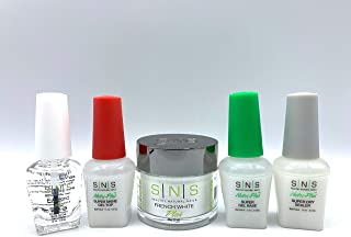 SNS Gel Base Top EA Bond Sealer Dry Coat Natural Healthy Plus Set for Do It Yourself Home Nails Starter Kit Dipping Powder Gelous (French White)