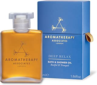 Aromatherapy Associates Deep Relax Bath And Shower Oil, 55ml, with earthy Vetivert, soothing Camomile and comforting Sanda...