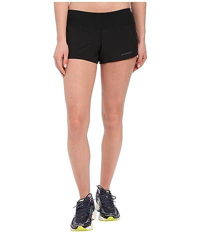 Brooks Chaser 3 Shorts (Black) Women