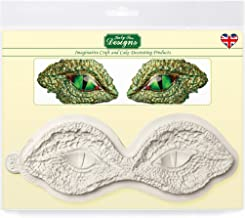 Dinosaur & Dragon Eyes Silicone Mold for Cake Decorating, Crafts, Cupcakes, Sugarcraft, Cookies, Candies, Chocolate, Cards and Clay, Food Safe Approved, Made in the UK