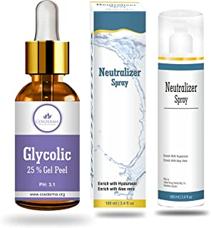 Cosmoderm Glycolic 25 percent Clear skin Complexion Bright and Radiant Skin Peel (bnvb)
