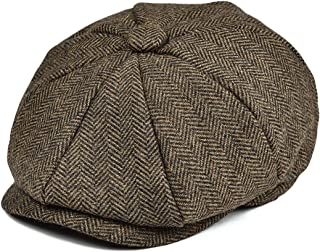 JANGOUL Boys Vintage Newsboy Cap Tweed Flat Beret Cabbie Hat for Kids Toddler Pageboy