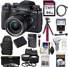 Fujifilm X-T3 4K Wi-Fi Digital Camera & 18-55mm XF Lens (Black) with 64GB Card + Backpack + Battery & Charger + Tripod + Flash + 2 Lens Kit