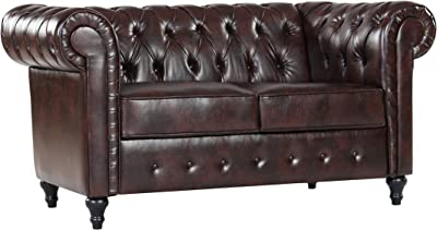 Amazon.com: The Chesterfield Brand - 3 Seater Antique Green Sofa ...