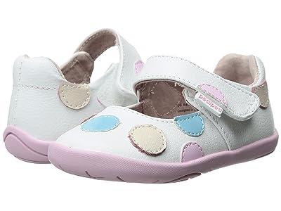 pediped Giselle Grip n Go (Toddler) (White Pastel) Girl