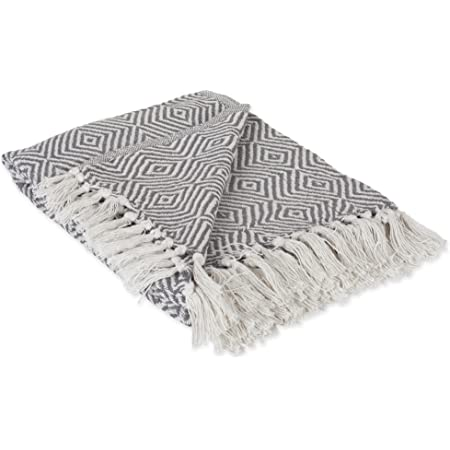 100/% Cotton Throw Blanket 50x60 Lightweight Geometric Daimond Throw Blanket �