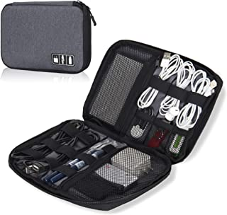 Hynes Eagle Travel Universal Cable Organizer Electronics Accessories Cases For Various USB, Phone, Charger and Cable Grey ...