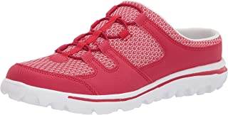 Propét Women's TravelActiv Slide Sneaker, Red, 6 Narrow