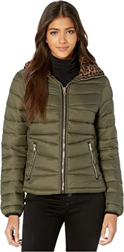 Reversible Packable Puffer Leopard Jacket