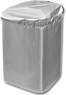 日本製 屋外 風雨 紫外線 ホコリ に強い シルバーコーティング すっぽり 洗濯機カバー (サイズ調節 アジャスター付き)