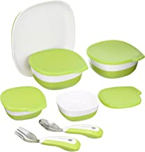 4moms high Chair Magnetic Plate, Bowls and Utensils Feeding Set – Dishwasher Safe