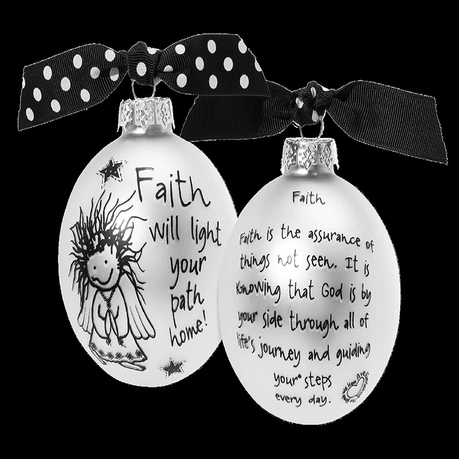 Whitehurst Silver Faith is The Light Ball Glass Surprise price Special price for a limited time Orname Christmas