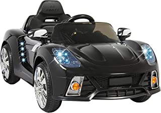 Best Choice Products 12V Kids Battery Powered Remote Control Electric RC Ride-On Car w/ 2 Speeds, LED Lights, MP3, AUX - Black