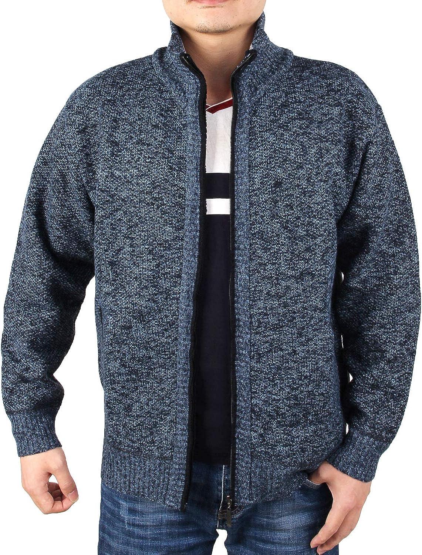 Under blast sales Baltimore Mall INIBUD Men's Cardigan Sweaters Casual Ful Fit Collar Stand Slim