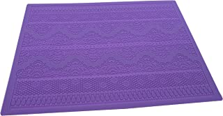 Silicone Lace, KOOTIPS 15.1 x 11.2 inches Vines & Scrolls Cake Decorating Mold, Decorating Tools, Embossing Cake Fondant Mold, Cupcake Mat for Cake Decorating (Lace mat (D))
