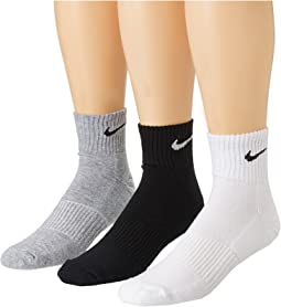 Nike Cotton Cushion Quarter with Moisture Management 3-Pair Pack