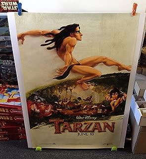 TARZAN Movie Theatre Poster 27x40 One Sheet 1999 Advance Walt Disney Double Side