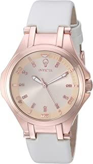 Invicta Women's Rose Gold Dial Leather Band Watch - 23252