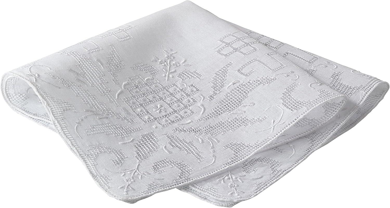SARO LIFESTYLE 3764 Handkerchiefs White 13 Inch Square, Sold Per 1 PC