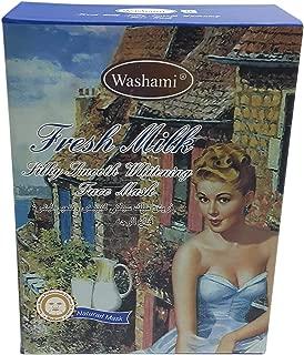 Washami Fresh Milk Silky Smooth Whitening Face Mask, 28gX10PCS