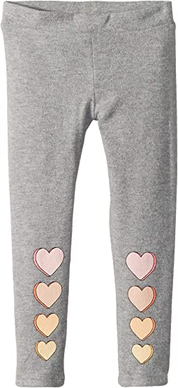 Extra Soft Love Knit Hearts Leggings (Toddler/Little Kids)
