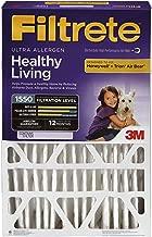 Filtrete 16x25x5, AC Furnace Air Filter, MPR 1550 DP, Healthy Living Ultra Allergen Deep Pleat, 1-Pack (Renewed)