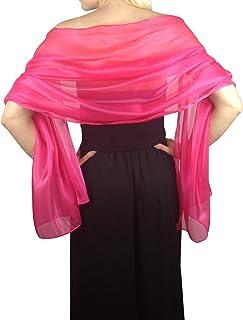 Atemberaubende Silky Iridescent Hochzeit Abschlussball Brautjungfern Wraps Stola Schal Pashmina - 24 Farben …