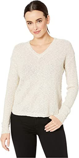 Sand Drift V-Neck Sweater in Novelty Yarn