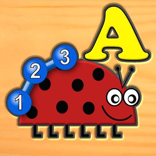 Crianças inseto carta número lógica e jogos de labirinto - aprendizagem divertida para crianças pré-escolares