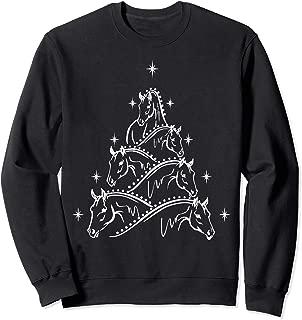 Funny Horse & Christmas Tree T-Shirt
