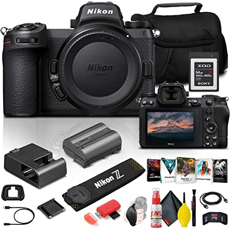Nikon Z 6II Mirrorless Digital Camera 24.5MP (Body Only) (1659) + 64GB XQD Card + Corel Photo Software + Case + HDMI Cable + Cleaning Set + Hand Strap + More - International Model (Renewed)