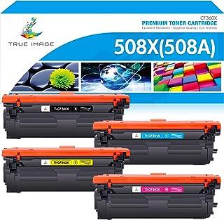 True Image Compatible Toner Cartridge Replacement for HP 508A 508X CF360X CF361X CF362X CF363X Color Laserjet Enterprise M...
