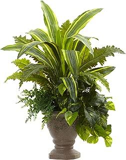 Nearly Natural Mixed Yucca, Marginatum, Pothos & Bracken with Planter, 25