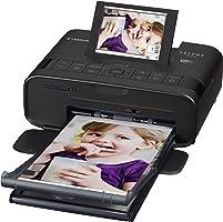 طابعة صور سيلفي مدمجة CP1300 من كانون، لون اسود، تأتي مع 5 اوراق صور للطباعة