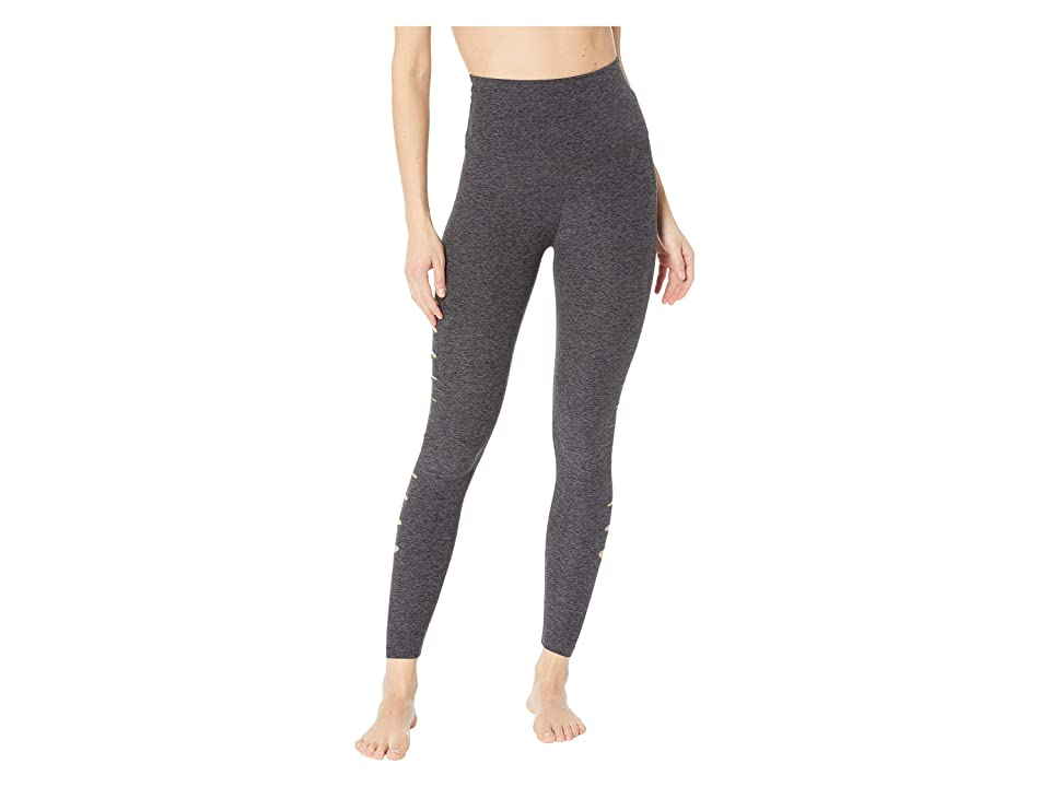 Beyond Yoga Spacedye So Slashed High-Waisted Midi Leggings (Black/Charcoal) Women