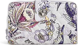 Vera Bradley Women's Cotton Turnlock Wallet with RFID Protection